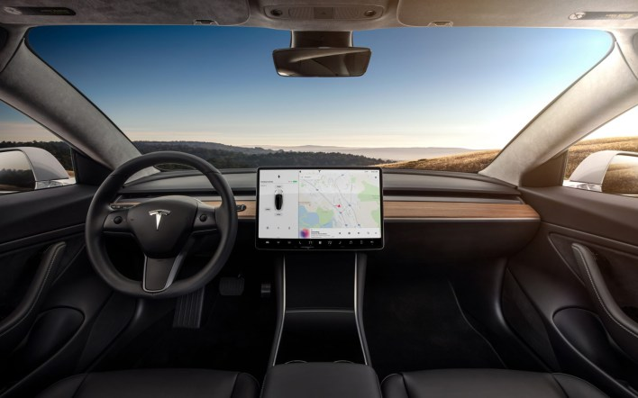 Model 3 Interior Dashboard - Head On