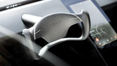 Tesla Roadster volant 2017