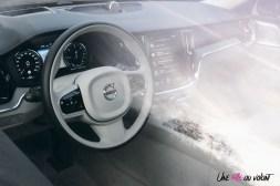 Volvo V60 intérieur détail logo