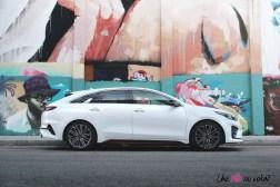 Kia Proceed GT profil break coffre jantes blanc