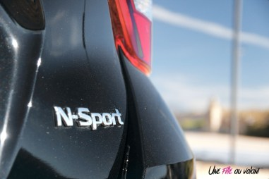 Nissan Micra N-Sport logo détail