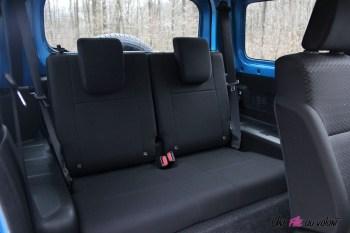 Suzuki Jimny intérieur banquette arrière