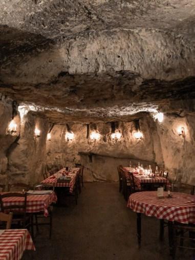 Les caves de Marson, Saumur, décor