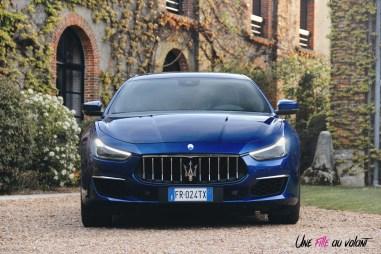 Maserati Ghibli 2019 face avant calandre logo optiques