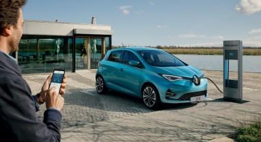 Renault Zoé 2019 électrique recharge autonomie borne