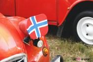 Rassemblement du Siècle Citroën 2019 2 CV détail phare norvège