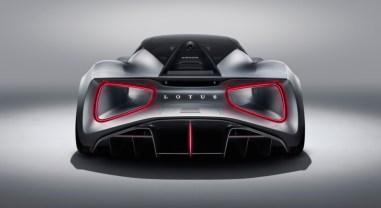 Lotus Evija 2019 arrière diffuseur bouclier feux