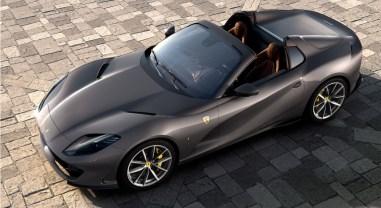 Ferrari 812 GTS 2019 cabriolet profil jantes