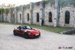 Essai Mazda MX-5 statique cabriolet capot