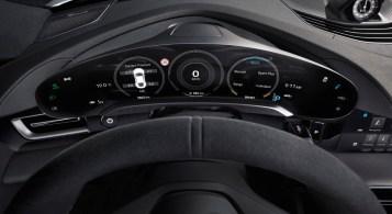 Porsche Taycan 2019 combiné numérique incurvé