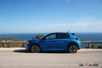 Essai Peugeot 208 2019 profil empattement