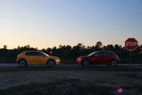 Essai Peugeot 208 2019 jaune faro rouge elixir citadine GT Line profil jantes
