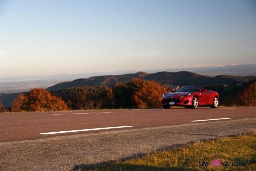 Road-Trip Ferrari Paris-Mulhouse portofino cabriolet convertible rouge V8 Alsace