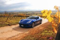 Road-Trip Ferrari Paris-Mulhouse GTC4 Lusso T bleu shooting brake