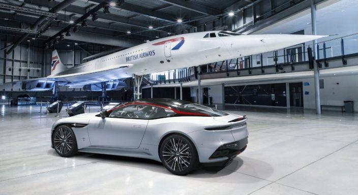 Aston Martin DBS Superleggera Concorde Special Edition 2019 arrière profil jantes