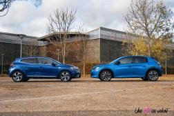Comparatif Peugeot 208 Renault Clio 0155 profil