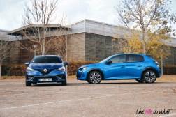 Comparatif Peugeot 208 Renault Clio 0157 profil face avant