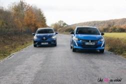 Comparatif Peugeot 208 Renault Clio 0198
