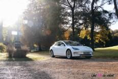 Essai Tesla Model 3 Performance 2019 berline électrique calandre capot profil