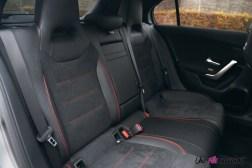 Essai Mercedes Classe A intérieur banquette arrière