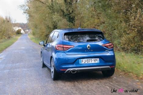 Photo essai Renault Clio 5 2019 arrire dynamque