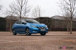 Photos essai Nissan Leaf e+ 2020 face avant profil