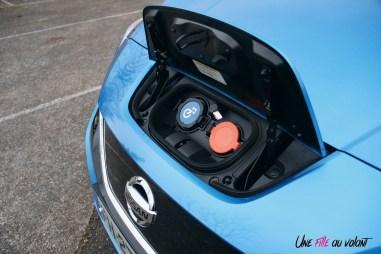 Photos essai Nissan Leaf e+ 2020 prise de recharge