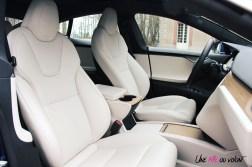 Photos essai Tesla Model S Grande Autonomie 2020 siges avant intŽrieur premium blanc