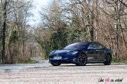Photos essai Tesla Model S Grande Autonomie 2020 bleu outremer mŽtallisŽ