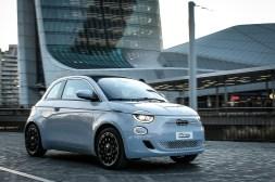 Photos Fiat 500 électrique 2020 dynamique