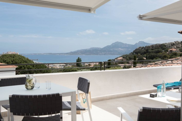 photos Hotel La Villa Calvi Corse terrasse suite vue mer