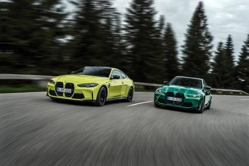 Photo face avant dynamique BMW M3 et M4 2020