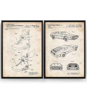 Affiche brevet DeLorean DMC-12