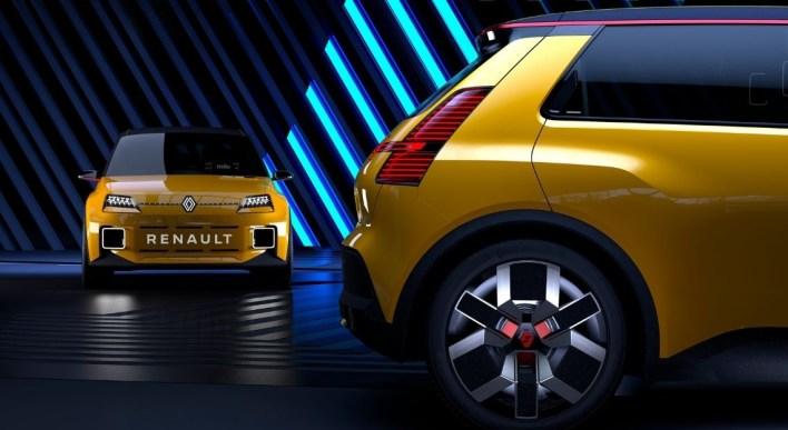Photo avant et arrière Renault 5 Prototype 2021