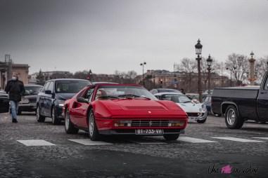 Photo Traversée de Paris hivernale 2021 Ferrari 328