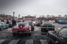 Photo Traversée de Paris hivernale 2021 Ford Mustang ambiance