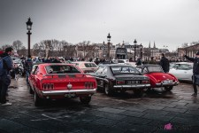Photo Traversée de Paris hivernale 2021 arrière Ford Mustang
