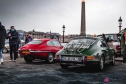 Photo Traversée de Paris hivernale 2021 Porsche 911 Jaguar Type E