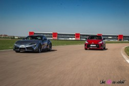 Photo comparatif Toyota GR Yaris et Toyota GR Supra 2021 circuits LFG