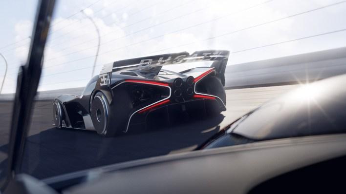 Photo arrière Bugatti Bolide W16 2021