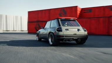 Photo arrière dynamique Renault 5 Turbo 3 2021