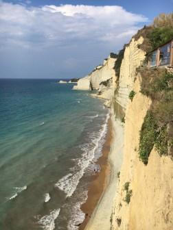 Falaises au 7th Heaven Café - Lo Gas Beach - Corfou