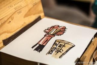 La peinture au vin rouge de Laurent Bessot pour Auto Rétro Vino