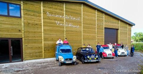 Domaine de l'Envol à Ingersheim pour Auto Retro Vino Photo Céline Schnell - Une Fille En Alsace