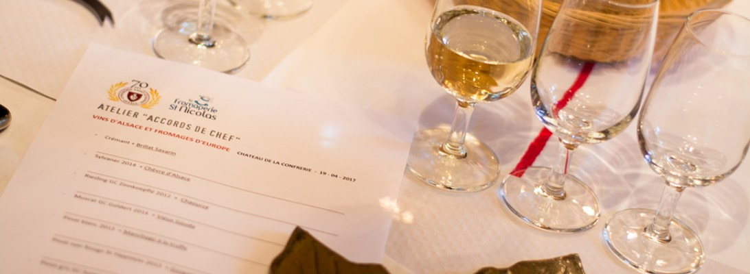 Atelier accords de chef Vins d'Alsace et fromage d'Europe
