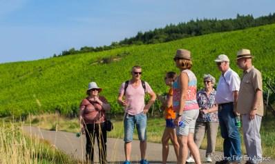 Visite avec Lydie Sohler du Muencberg à Nothalten