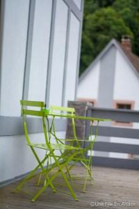 Terrasse de la Chambre Célestine - Chambres d'hôtes Les Ecrins à Orbey - Photo Céline Schnell - Une Fille En Alsace