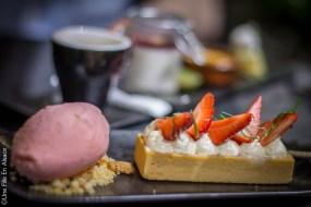 Tarte au fraises Restaurant le Cordon Rouge à Furdenheim - Photo Céline Schnell Une Fille En Alsace