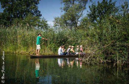 Barque à fond plat île de Rhinau - Photo Céline Schnell Une Fille En Alsace