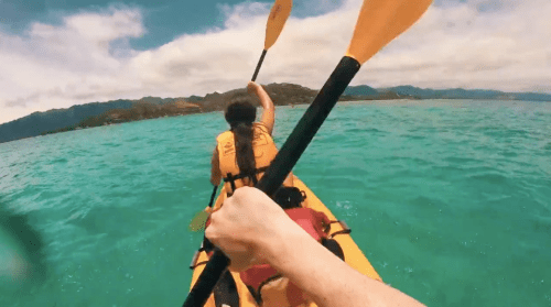 kayaking for two